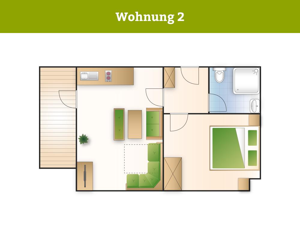 fewo 2 unterkunft in gr n f r 2 pers haus waldwinkel. Black Bedroom Furniture Sets. Home Design Ideas